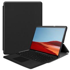 Microsoft Surface Pro X hoes - Tri-Fold Book Case - Zwart