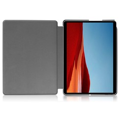Microsoft Surface Pro X hoes - Tri-Fold Book Case - Paars