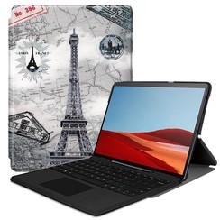 Microsoft Surface Pro X hoes - Tri-Fold Book Case - Eiffeltoren