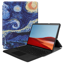 Microsoft Surface Pro X hoes - Tri-Fold Book Case - Sterrenhemel