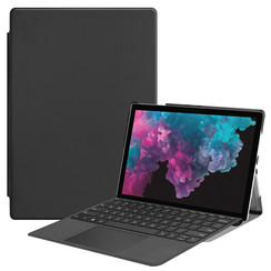 Microsoft Surface Pro 7 hoes - Tri-Fold Book Case - Zwart