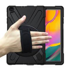 Samsung Galaxy Tab A 10.1 (2019) Cover - Hand Strap Armor Case - Zwart