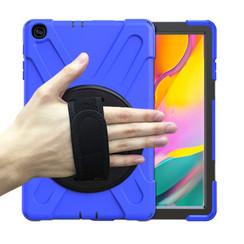 Samsung Galaxy Tab A 10.1 (2019) Cover - Hand Strap Armor Case - Blauw