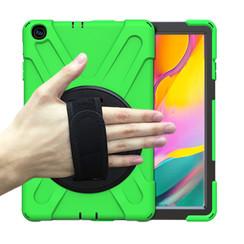 Samsung Galaxy Tab A 10.1 (2019) Cover - Hand Strap Armor Case - Groen