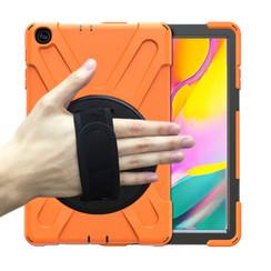 Samsung Galaxy Tab A 10.1 (2019) Cover - Hand Strap Armor Case - Oranje