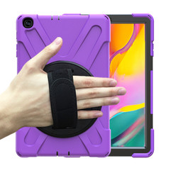 Samsung Galaxy Tab A 10.1 (2019) Cover - Hand Strap Armor Case - Paars