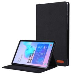Samsung Galaxy Tab S6 - Book Case met Soft TPU houder - Zwart