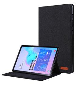 Case2go Samsung Galaxy Tab S6 - Book Case met Soft TPU houder - Black