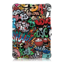 Kobo Clara HD hoes - Tri-Fold Book Case - Graffiti