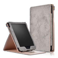 Kobo Clara HD hoes - Wallet Book Case - Grijs