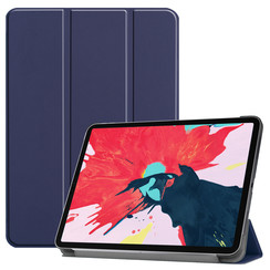 iPad Pro 11 (2020) hoes - Tri-Fold Book Case - Donker Blauw