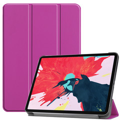 iPad Pro 11 (2020) hoes - Tri-Fold Book Case - Paars
