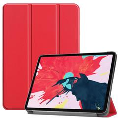 iPad Pro 11 (2020) hoes - Tri-Fold Book Case - Rood