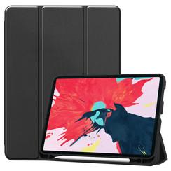 iPad Pro 11 (2020) Hoes  - Tri-Fold Book Case Met Apple Pencil Houder - Zwart