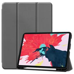 iPad Pro 11 (2020) Hoes  - Tri-Fold Book Case Met Apple Pencil Houder - Grijs