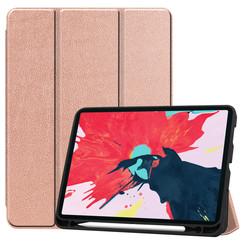 iPad Pro 11 (2020) Hoes  - Tri-Fold Book Case Met Apple Pencil Houder - Rosé Goud
