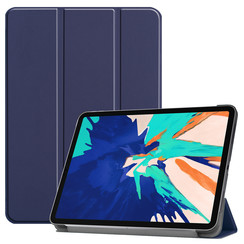 iPad Pro 12.9 (2020) hoes - Tri-Fold Book Case - Donker Blauw
