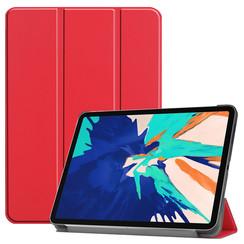 iPad Pro 12.9 (2020) hoes - Tri-Fold Book Case - Rood