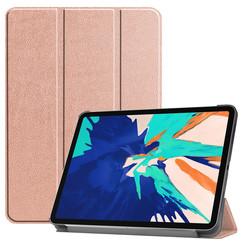 iPad Pro 12.9 (2020) hoes - Tri-Fold Book Case - Rosé Goud