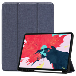 iPad Pro 12.9 (2020) hoes - Cowboy Cover Book Case - Donker Blauw