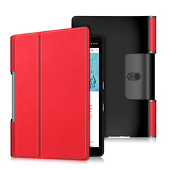 Lenovo Yoga Smart Tab 10.1 hoes - Tri-Fold Book Case - Rood