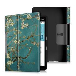 Lenovo Yoga Smart Tab 10.1 hoes - Tri-Fold Book Case - Witte Bloesem