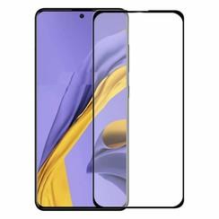 Samsung Galaxy A51 - Full Cover Screenprotector - Zwart
