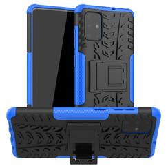 Samsung Galaxy A71 hoes - Schokbestendige Back Cover - Blauw