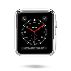 Dux Ducis - Apple Watch Series 1/2/3 case - 38 mm - Cover - Silver / Transparant (2-Pack)