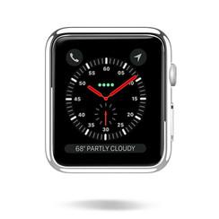 Dux Ducis - Apple Watch Series 1/2/3 hoesje - 38 mm - Beschermende Cover - Zilver / Transparant (2-Pack)