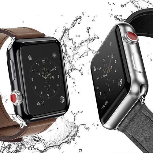 Dux Ducis Dux Ducis - Apple Watch Series 1/2/3 Hoesje - 42 MM -Stijlvolle Beschermende Cover - Zwart / Transparant (2-Pack)