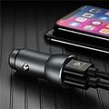 Dux Ducis Dux Ducis - Autolader - Dual poort  USB - Snellader - Zwart