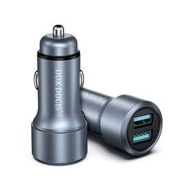 Dux Ducis Dux Ducis - Autolader USB - Dual poort - QC - Snellader - Silver