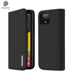 Google Pixel 4 XL case - Dux Ducis Wish Wallet Book Case - Black