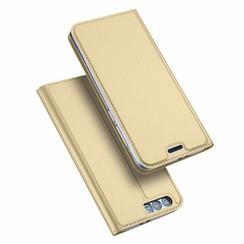 Honor 9 case - Dux Ducis Skin Pro Book Case - Gold