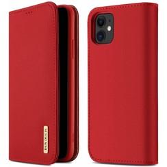 iPhone 11 case - Dux Ducis Wish Wallet Book Case - Red