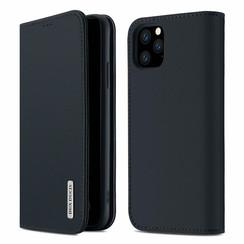 iPhone 11 Pro Max hoesje - Dux Ducis Wish Wallet Book Case - Donker Blauw