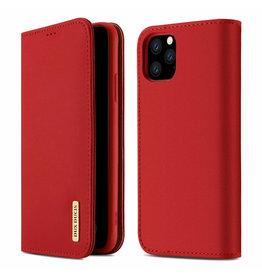 Dux Ducis iPhone 11 Pro Max case - Dux Ducis Wish Wallet Book Case - Red