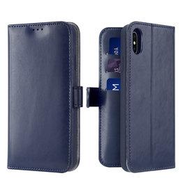 Dux Ducis iPhone Xs Max case - Dux Ducis Kado Wallet Case - Blue