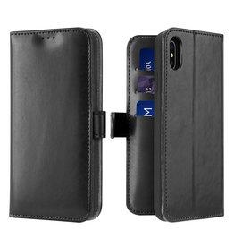 Dux Ducis iPhone Xs Max case - Dux Ducis Kado Wallet Case - Black