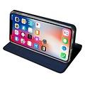 Dux Ducis iPhone XS Max hoesje - Dux Ducis Skin Pro Book Case - Blauw