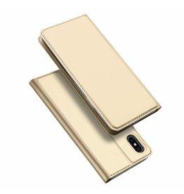 Dux Ducis iPhone XS Max case - Dux Ducis Skin Pro Book Case - Gold