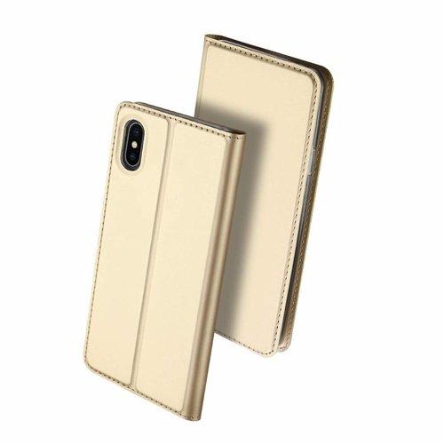 Dux Ducis iPhone XS Max hoesje - Dux Ducis Skin Pro Book Case - Goud