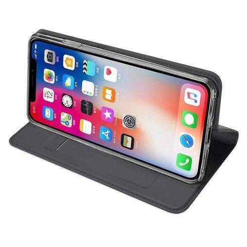 Dux Ducis iPhone XS Max hoesje - Dux Ducis Skin Pro Book Case - Grijs