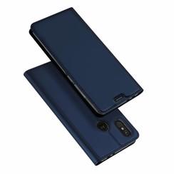 Motorola Moto One Power case - Dux Ducis Skin Pro Book Case - Blue