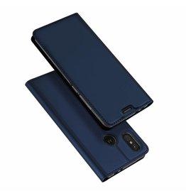 Dux Ducis Motorola Moto One Power case - Dux Ducis Skin Pro Book Case - Blue