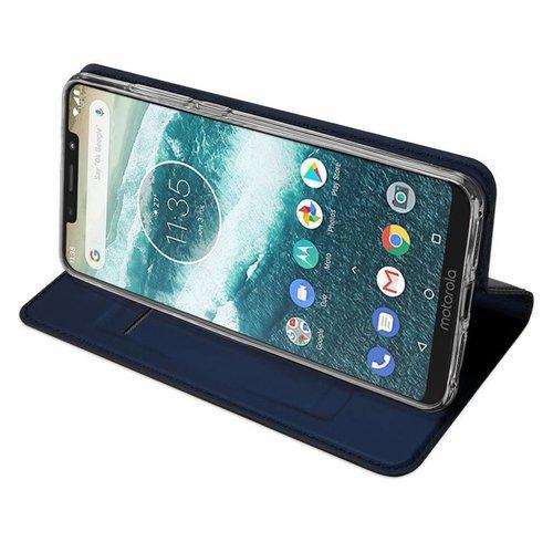 Dux Ducis Motorola Moto One Power hoesje - Dux Ducis Skin Pro Book Case - Blauw