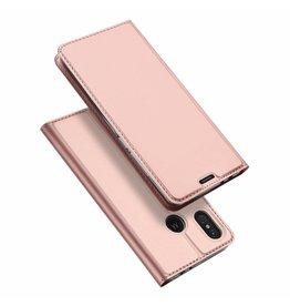 Dux Ducis Motorola Moto One Power case - Dux Ducis Skin Pro Book Case - Pink