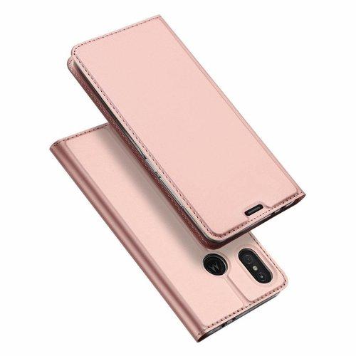Dux Ducis Motorola Moto One Power hoesje - Dux Ducis Skin Pro Book Case - Roze