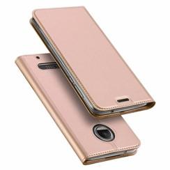 Motorola Moto Z2 Force case - Dux Ducis Skin Pro Book Case - Pink